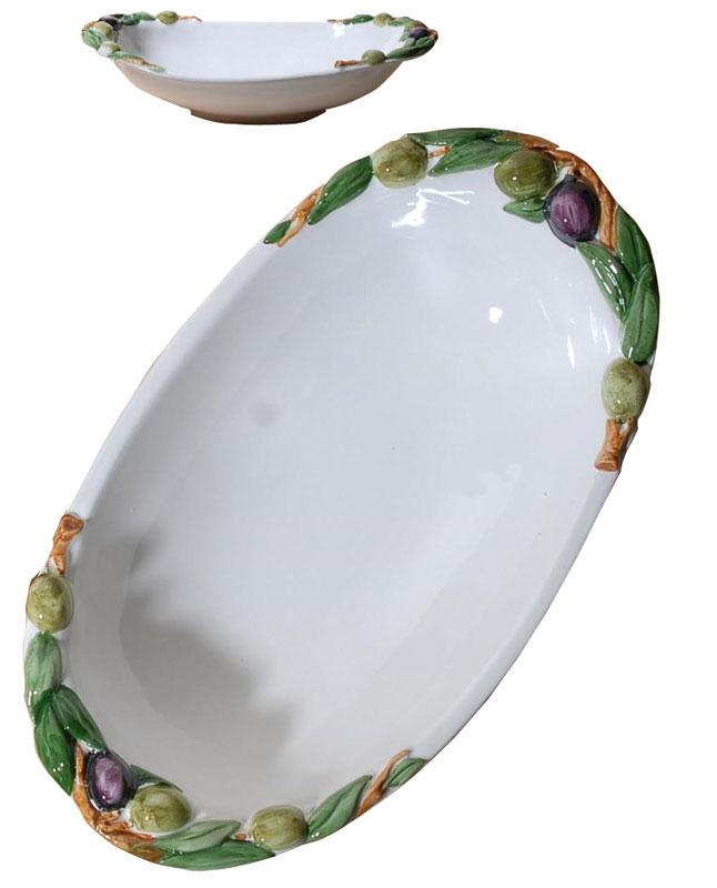 Μπωλ Σερβιρίσματος Φαγιάνς Royal Art 40x23εκ. LUM2018 (Χρώμα: Λευκό, Υλικό: Φαγιάνς) - Royal Art Collection - LUM2018