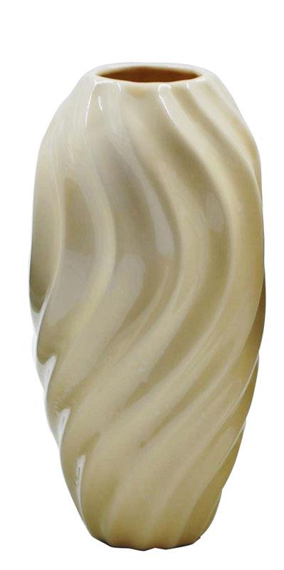 Βάζο Κεραμικό Royal Art 20εκ. DUE8914BE (Υλικό: Κεραμικό, Χρώμα: Μπεζ) - Royal Art Collection - DUE8914BE