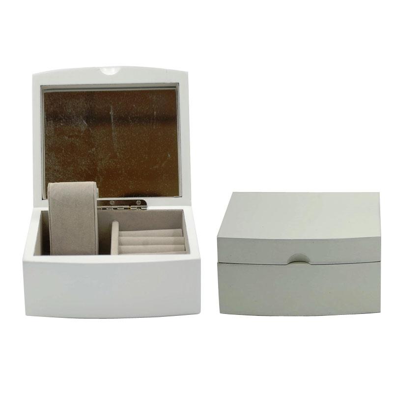 Μπιζουτιέρα Ξύλινη Με Καθρέπτη Royal Art 15×13,5×7,5εκ. STA42158 (Υλικό: Ξύλο, Χρώμα: Λευκό) – Royal Art Collection – STA42158