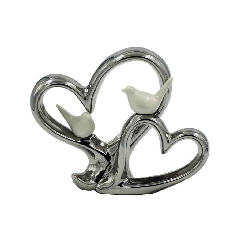 Διακοσμητική Καρδιά Κεραμική Royal Art 18×23εκ. IKO7448 (Υλικό: Κεραμικό, Χρώμα: Λευκό) – Royal Art Collection – IKO7448