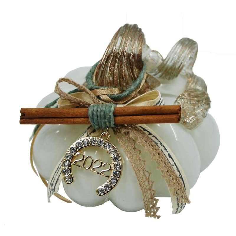Διακοσμητική Κολοκύθα Γυάλινη Με Γούρι Πέταλο Murano 9εκ. Royal Art KAT18/01WT (Υλικό: Γυαλί, Χρώμα: Καφέ) – Royal Art Collection – KAT18/01WT