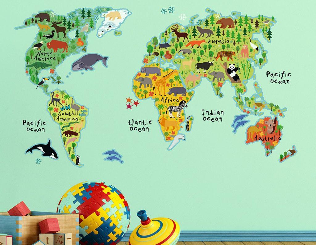 Αυτοκόλλητο Τοίχου World Map Ango 140×90εκ. 18301 – ango – ANGO_18301