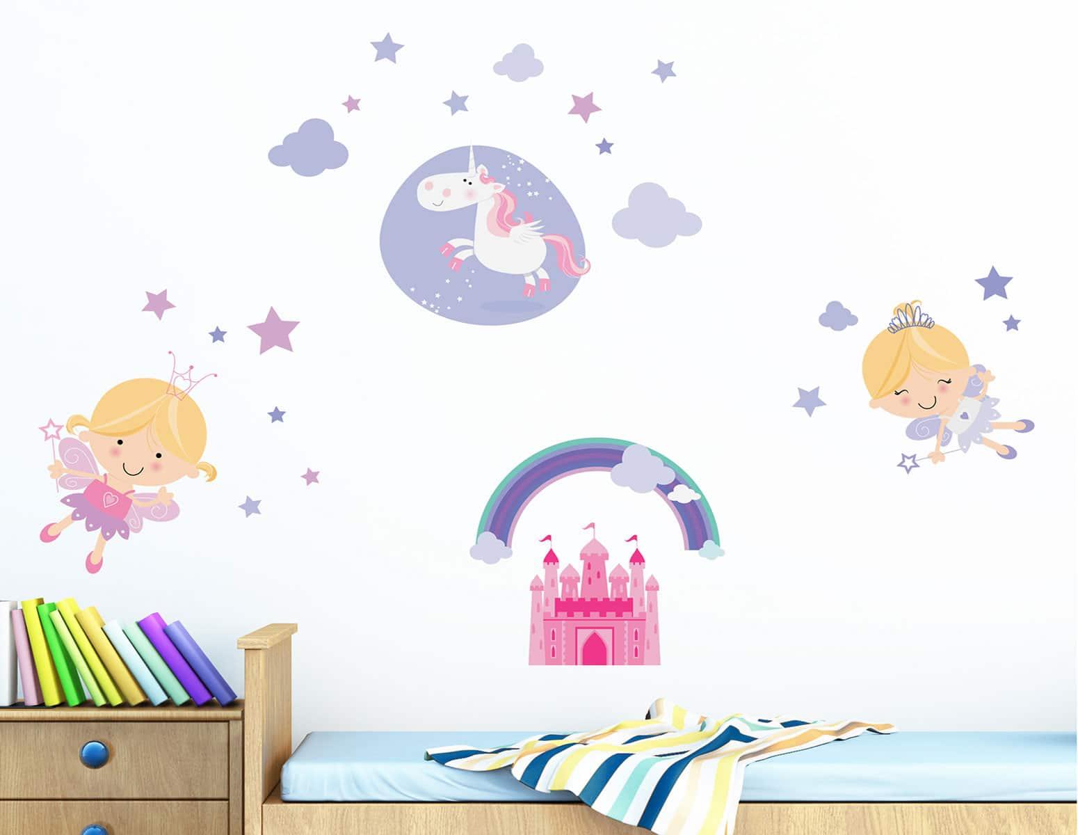Αυτοκόλλητο Τοίχου Happy Fairies Ango 120×80εκ. 18106 – ango – ANGO_18106