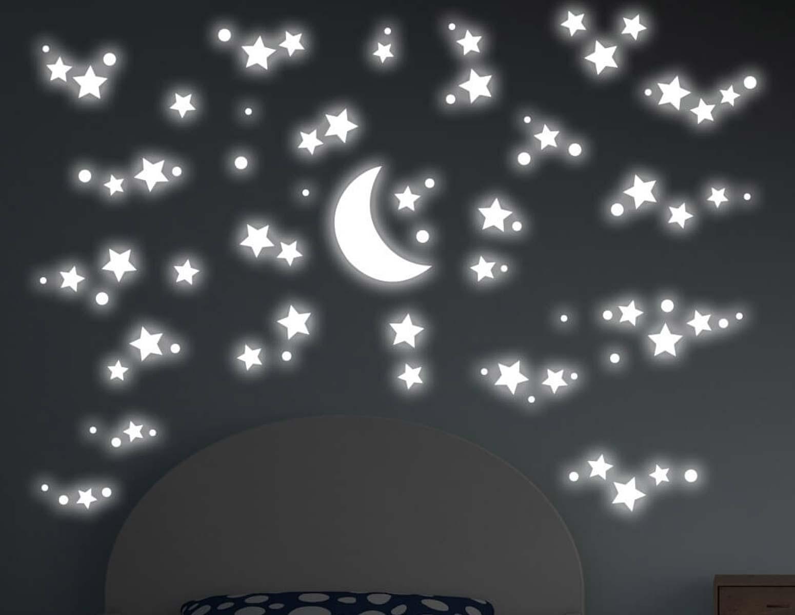Αυτοκόλλητο Τοίχου Φωσφοριζέ Starry Night Ango 200×150εκ. 18109 – ango – ANGO_18109