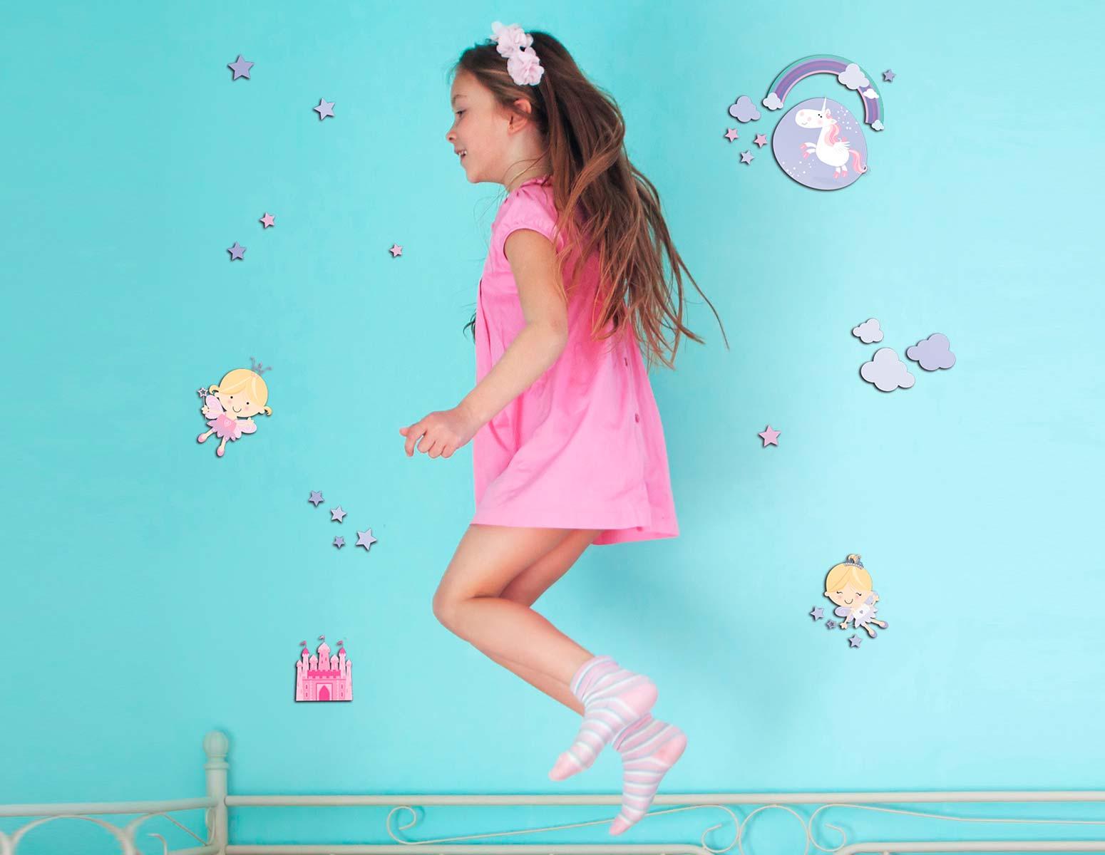 Αυτοκόλλητο Τοίχου Happy Fairies Ango 30×30εκ. 14503 – ango – ANGO_14503