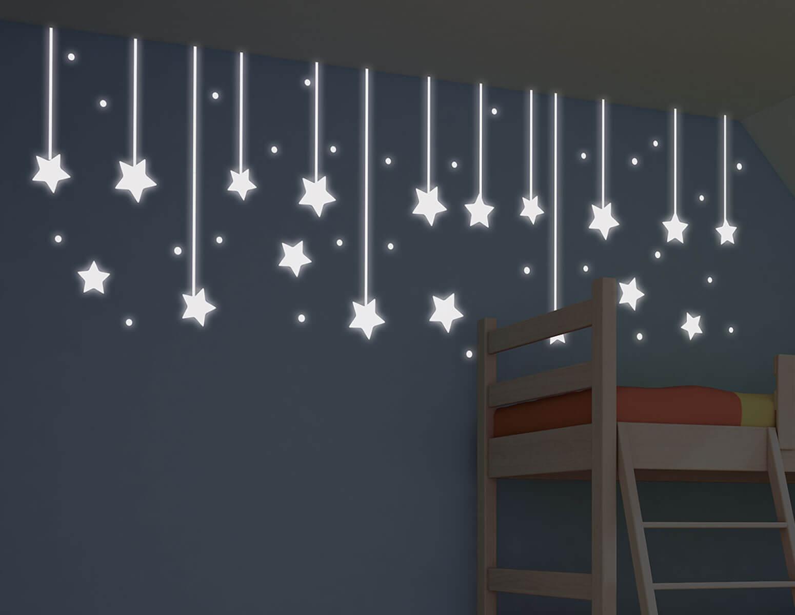 Αυτοκόλλητο Τοίχου Φωσφοριζέ Hanging Stars Ango 200×65εκ. 79227 – ango – ANGO_79227