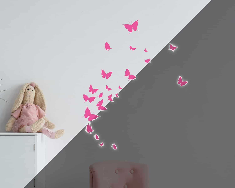 Butterflies φωσφορίζοντα τοίχου S – ango – ANGO_77224