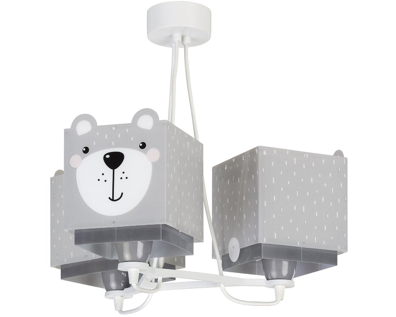 Φωτιστικό Οροφής 3Φωτο Little Teddy 39x39x45εκ. Ango 64577 (Υλικό: Πλαστικό, Χρώμα: Γκρι) – ango – ANGO_64577