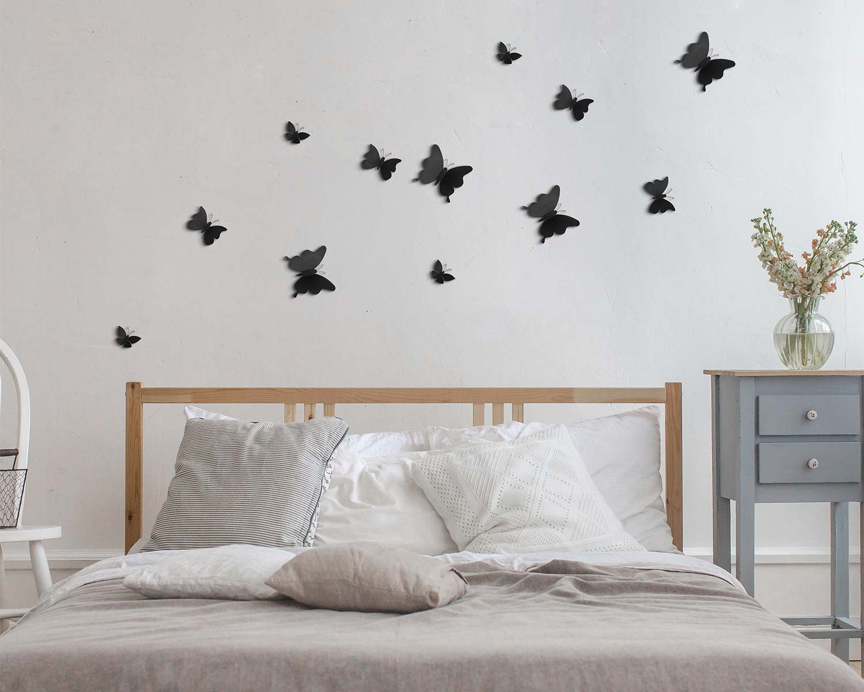 Διακοσμητικά Αυτοκόλλητα Τοίχου Black Butterflies 3D ANGO 24002 (Υλικό: Πολυπροπυλένιο, Χρώμα: Μαύρο) – ango – ANGO_24002