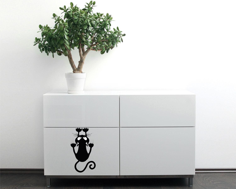 Αυτοκόλλητο Τοίχου Cat 15×24εκ. ANGO 59007 (Χρώμα: Μαύρο) – ango – ANGO_59007