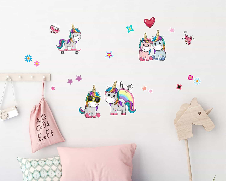 Αυτοκόλλητα Τοίχου Colorful Unicorns 80×85εκ. ANGO 18116 – ango – ANGO_18116