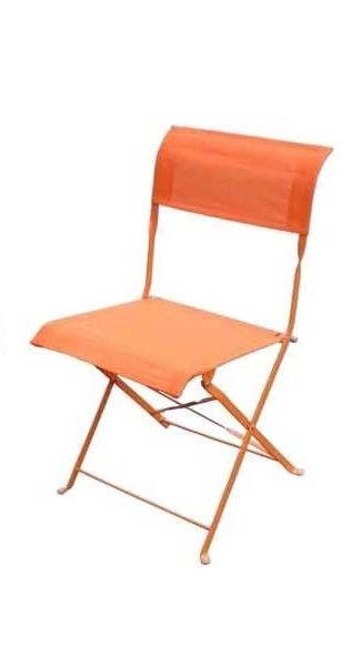 Καρέκλα Εξωτερικού Χώρου Αντικέ/Δ Πορτοκαλί – OEM – antike/d-orange