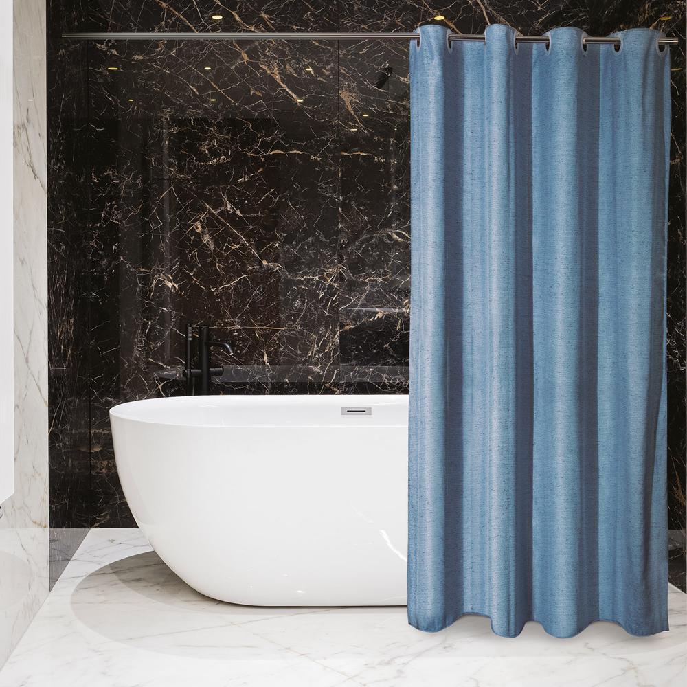 Κουρτίνα Μπάνιου Polyester 180×240εκ. Essential Greenwich Polo Club 2582 (Ύφασμα: Polyester, Χρώμα: Μπλε) – Greenwich Polo Club – 220124002582
