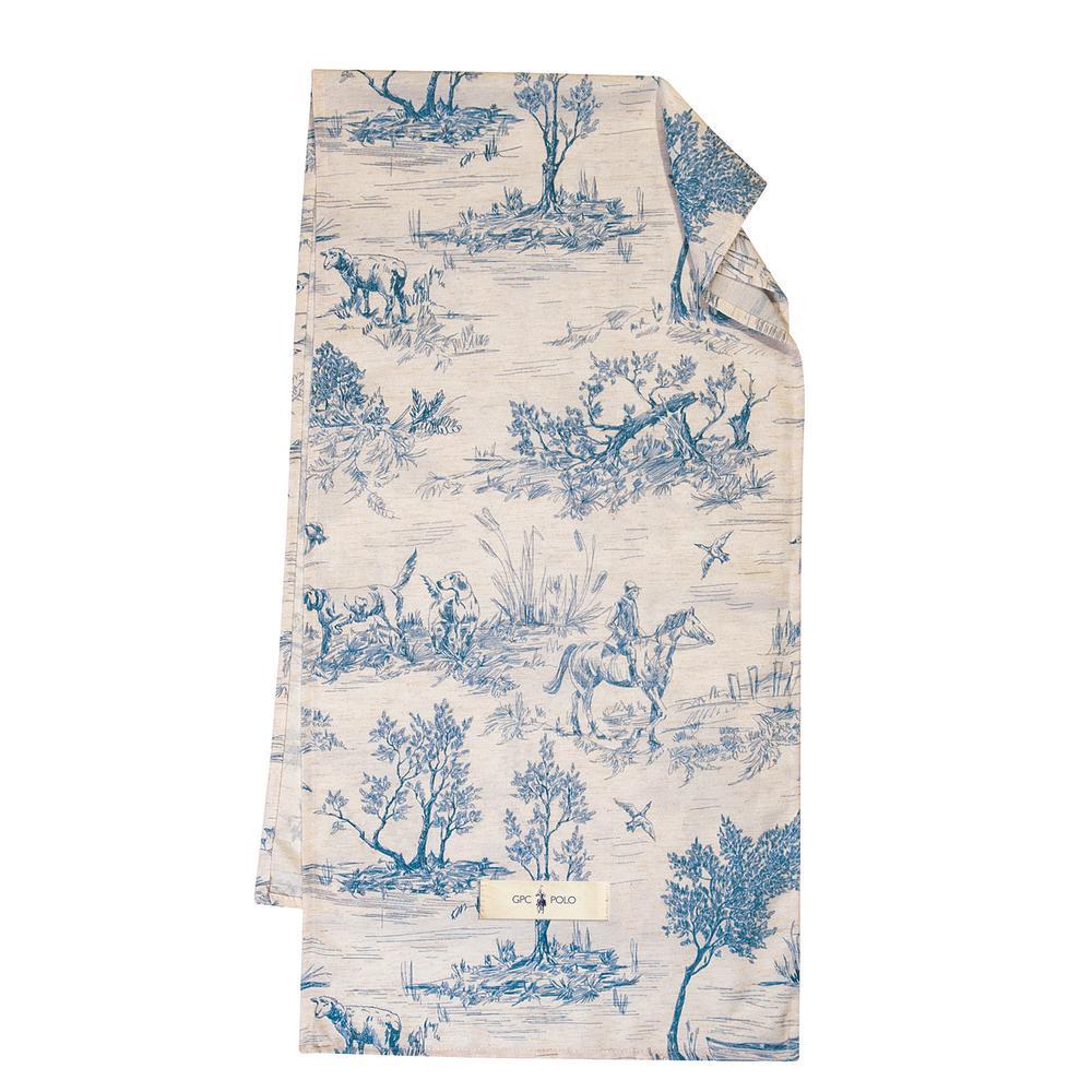 Runner Polyester-Linen 40×150εκ. Essential Greenwich Polo Club 2661 (Χρώμα: Μπλε, Ύφασμα: 30%LINEN 70%POL.) – Greenwich Polo Club – 227401502661