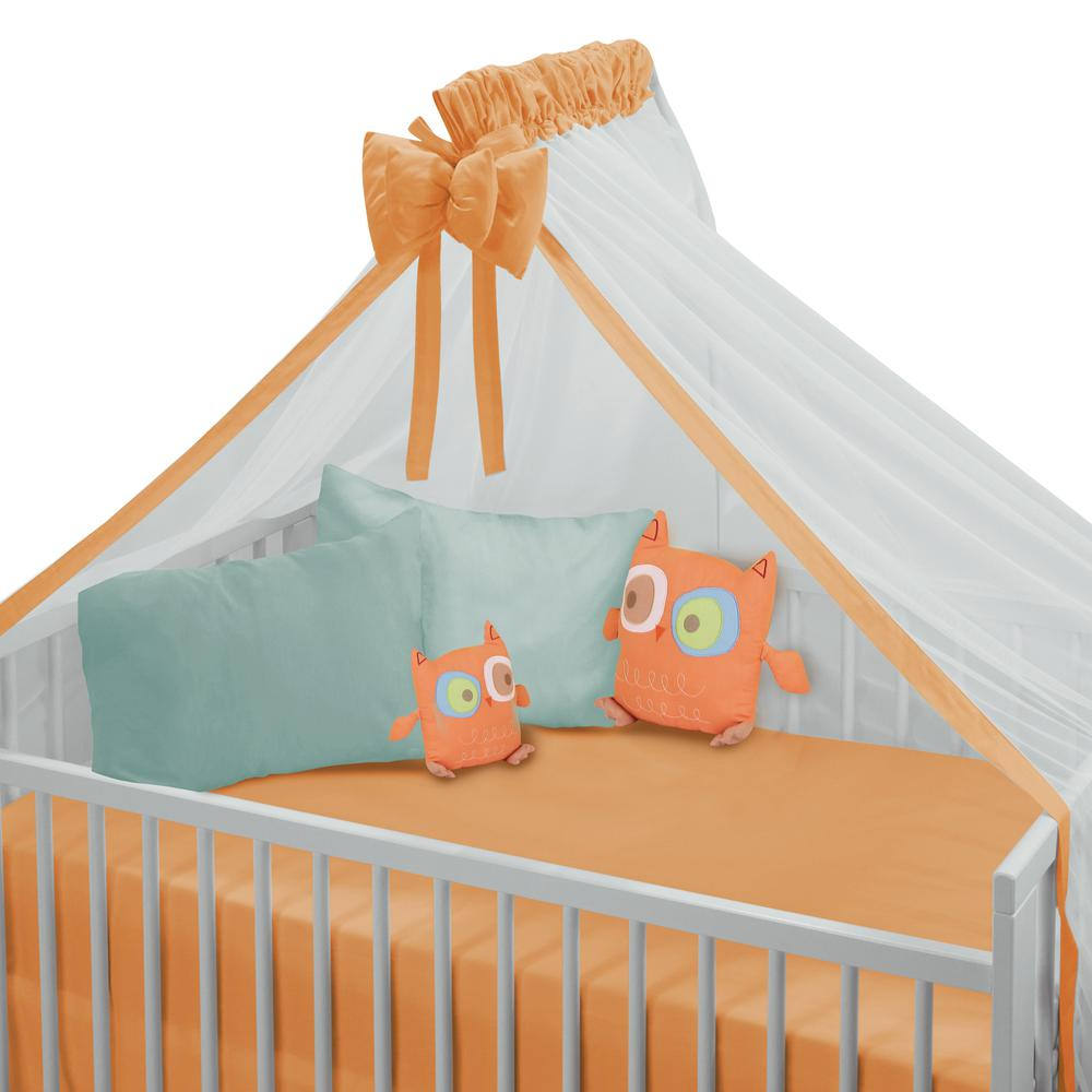 Κουνουπιέρα Κούνιας Polycotton 170×380εκ. Das Baby 6204 (Ύφασμα: Βαμβάκι 100%, Χρώμα: Πορτοκαλί) – Das Baby – 400022206204