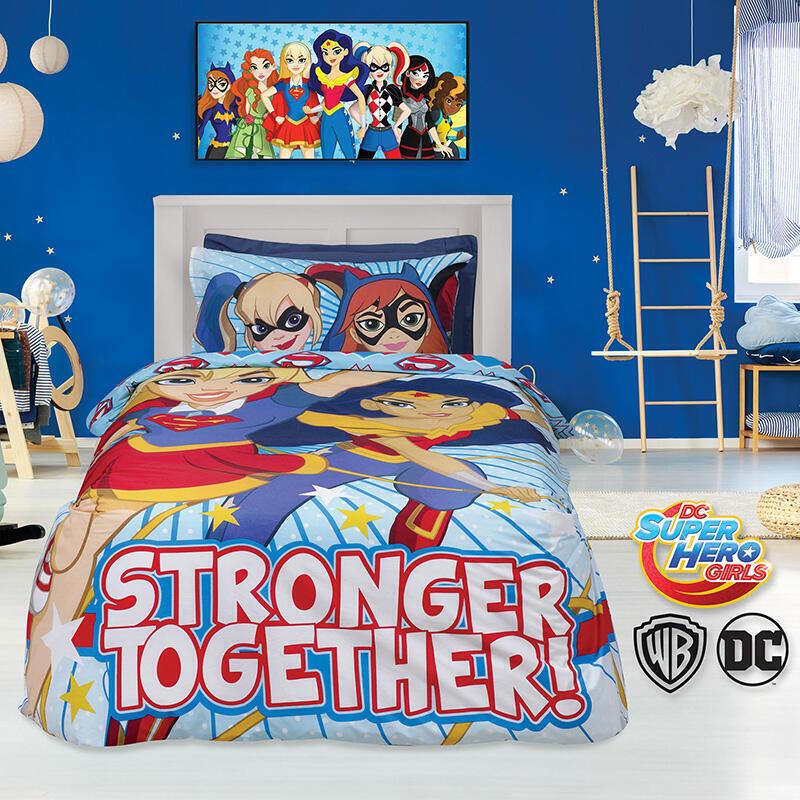 Σετ Κουβερλί Μονό 160×240εκ. Das Home Super Hero Girls 5005 – Das Home – 402009105005