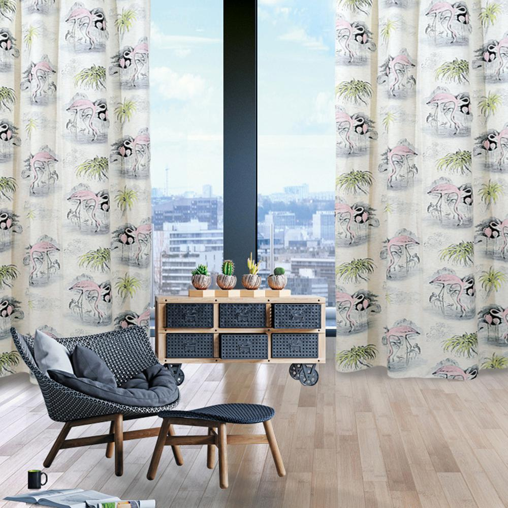 Κουρτίνα Polyester 140×280εκ. Curtain Line 2063 Das Home (Ύφασμα: Polyester, Χρώμα: Ροζ) – Das Home – 420142802063