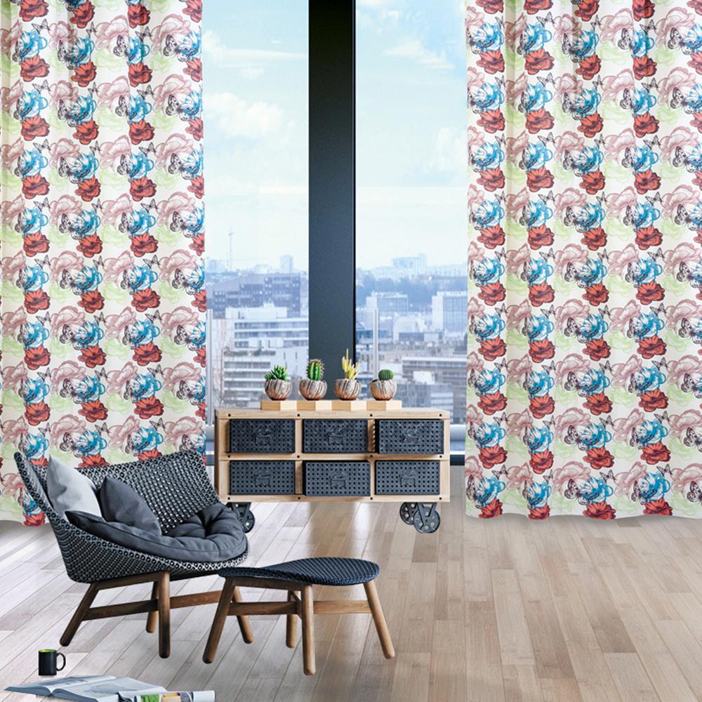 Κουρτίνα Polyester-Linen 140×280εκ. Curtain Line 2106 Das Home (Χρώμα: Κεραμιδί , Ύφασμα: 80% ΠΟΛΥΕΣΤΕΡΑΣ-20% ΛΙΝΟ) – Das Home – 420142802106