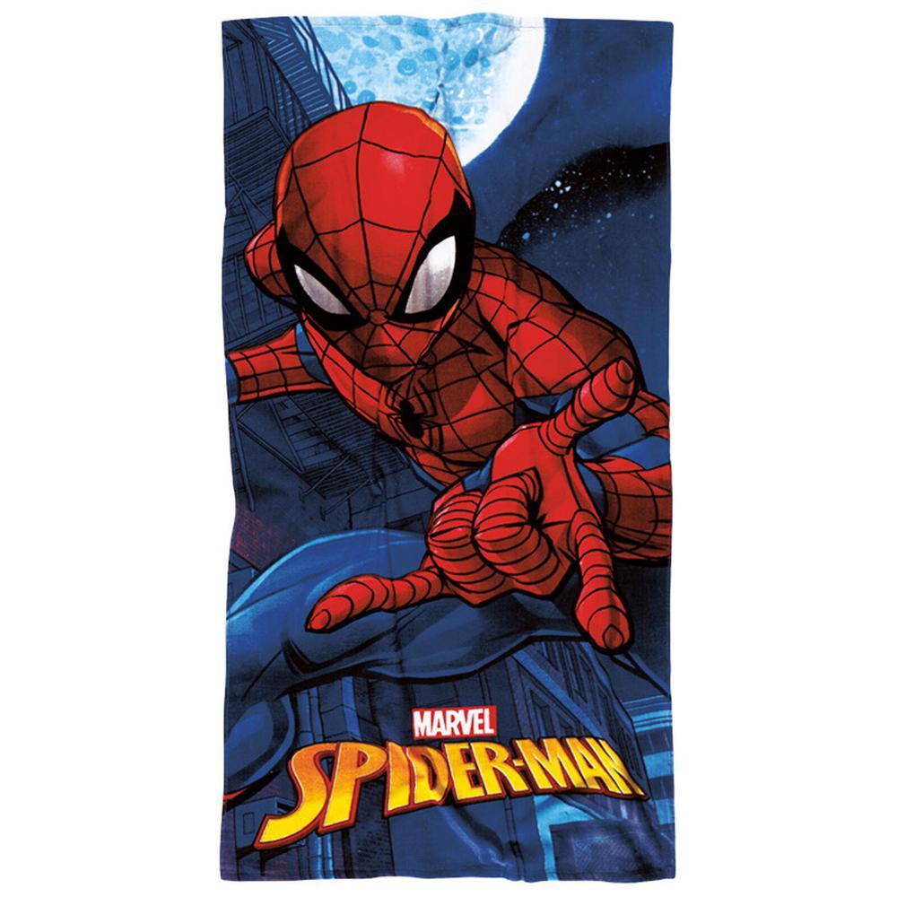 Πετσέτα Θαλάσσης 70x140εκ. Spiderman Das Home 5817 (Ύφασμα: Βαμβάκι 100%, Χρώμα: Μπλε) - Das Home - 420708705817