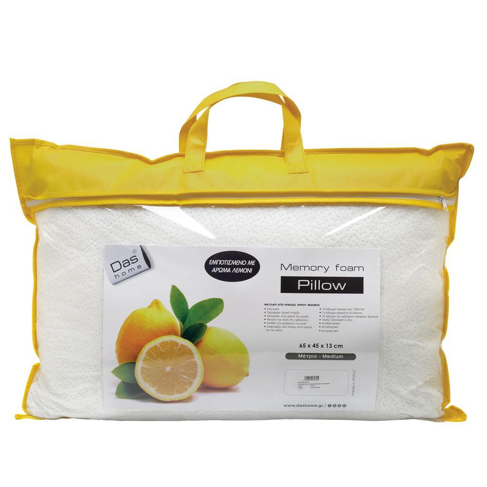 Μαξιλάρι Lemon – Memory Foam 65x45x13εκ. Das Home 1040 – Das Home – 421965451040