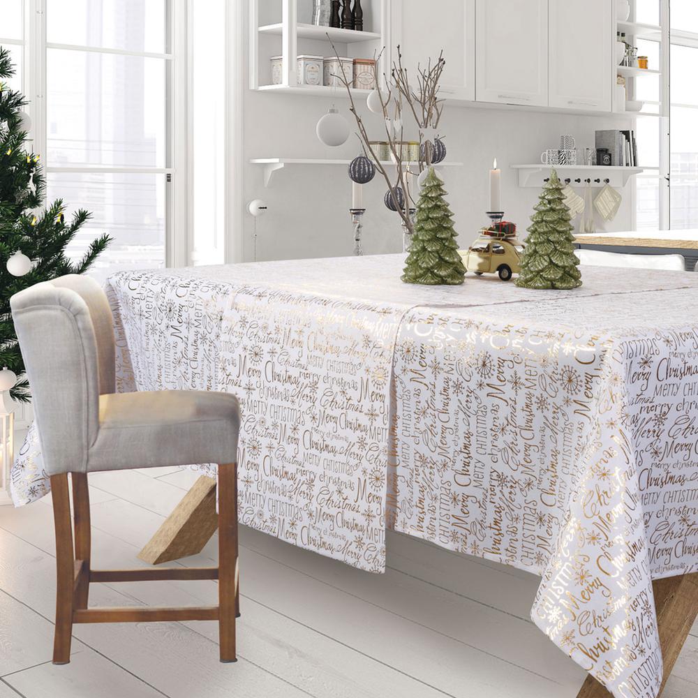 Χριστουγεννιάτικο Τραπεζομάντηλο Polyester 140×180εκ. 0575 Das Home (Ύφασμα: Polyester, Χρώμα: Εκρού ) – Das Home – 426214150575