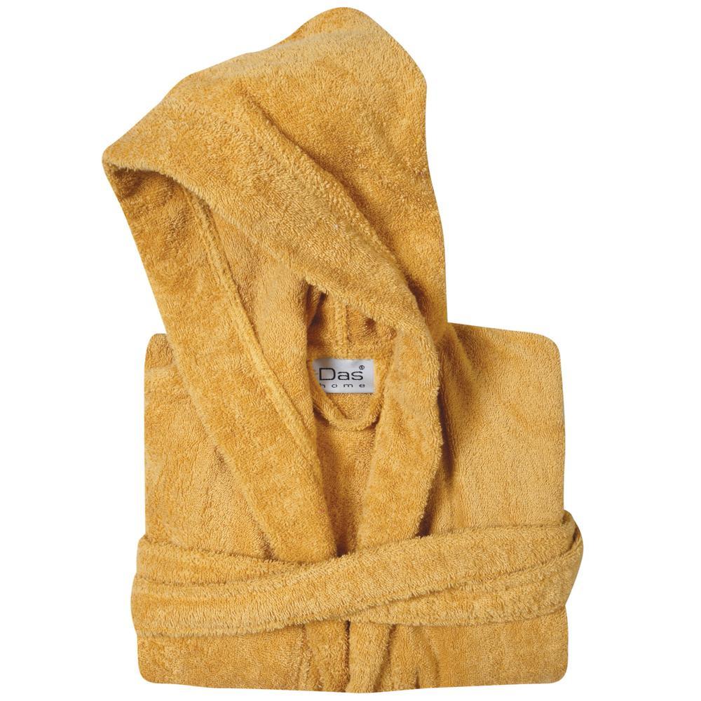 Μπουρνούζι Παιδικό Βαμβακερό Νο12 Casual 1447 Das Kids (Ύφασμα: Βαμβάκι 100%, Χρώμα: Κίτρινο ) - DAS KIDS - 460181201447