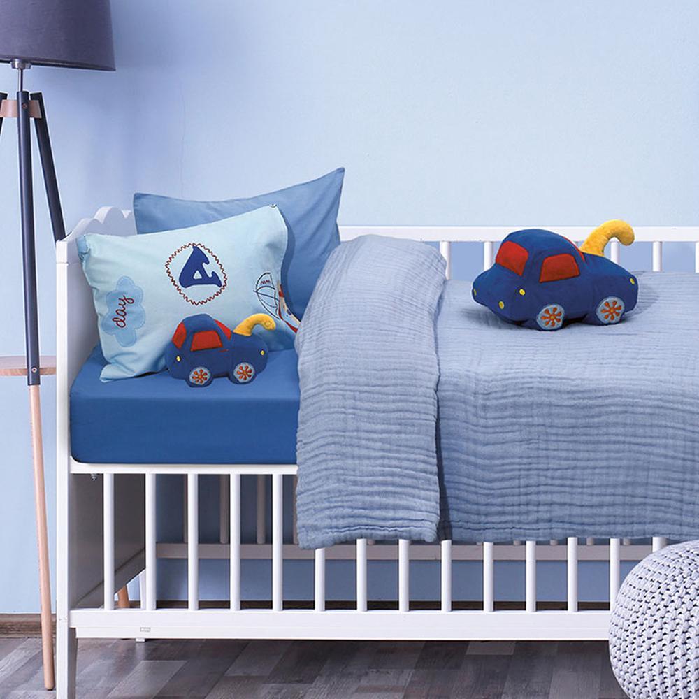 Κουβέρτα-Μουσελίνα Κούνιας 110×150εκ. Μπεμπέ Das Baby 6475 – Das Baby – 620515006475
