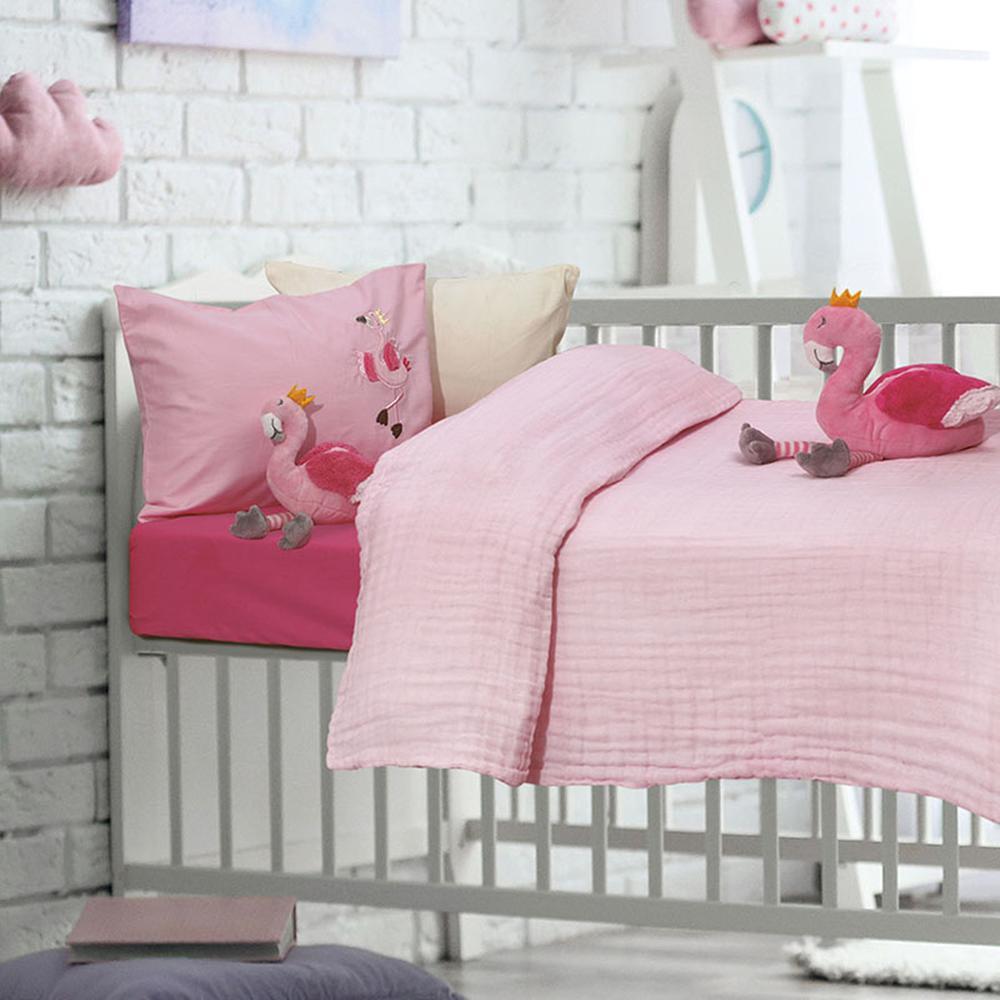 Κουβέρτα-Μουσελίνα Κούνιας 110×150εκ. Μπεμπέ Das Baby 6477 – Das Baby – 620515006477