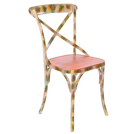 Καρέκλα Μεταλλική inart Πορτοκαλί – inart – 3-50-410-0004