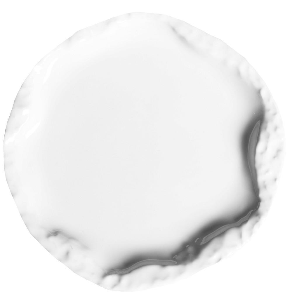 Πιάτο Ρηχό Πορσελάνης Volcano White Snow ESPIEL 27x2,3εκ. QAA102K4 (Υλικό: Πορσελάνη, Χρώμα: Λευκό) - ESPIEL - QAA102K4