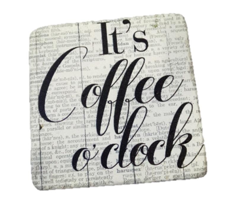 """Σουβέρ Σετ 6τμχ """"Coffee"""" ESPIEL 9,5×0,45×9,5εκ. NIK315 – ESPIEL – NIK315"""