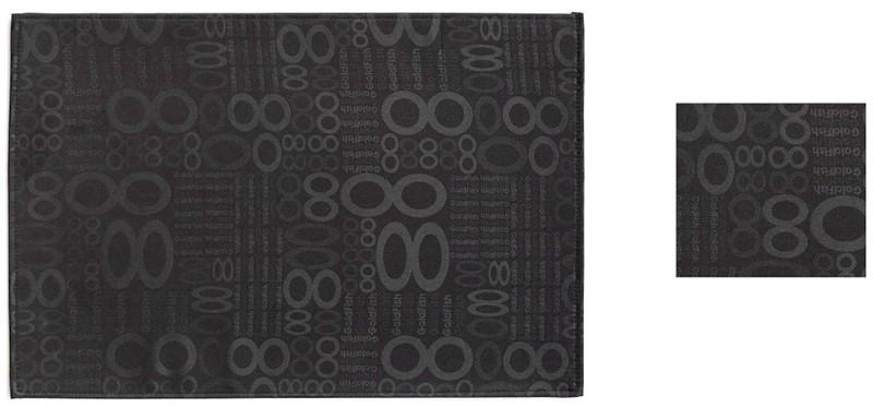 Σουβέρ Σετ 6τμχ Polyester ESPIEL 10×10εκ. HEN107 (Ύφασμα: Polyester, Χρώμα: Μαύρο) – ESPIEL – HEN107
