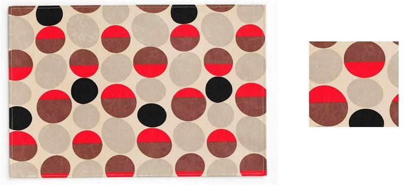 Σουβέρ Σετ 6τμχ Polyester ESPIEL 10×10εκ. HEN104 (Ύφασμα: Polyester) – ESPIEL – HEN104