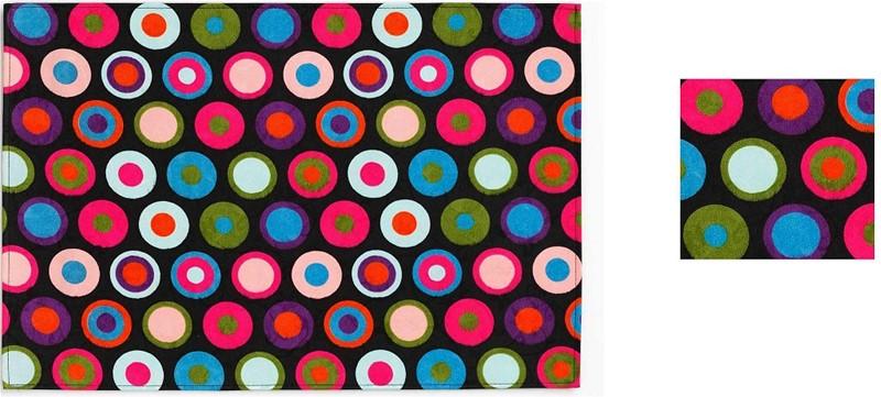 Σουβέρ Σετ 6τμχ Polyester ESPIEL 10×10εκ. HEN105 (Ύφασμα: Polyester) – ESPIEL – HEN105