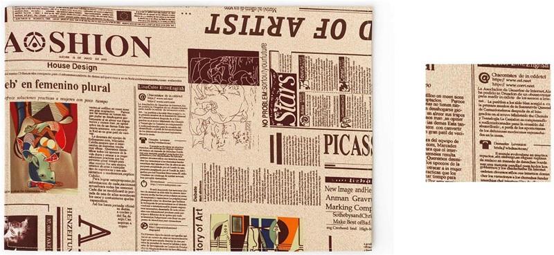 Σουβέρ Σετ 6τμχ Polyester ESPIEL 10×10εκ. HEN112 (Ύφασμα: Polyester) – ESPIEL – HEN112