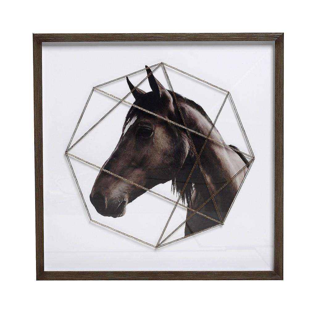 Κάδρο Άλογο ESPIEL 50×50εκ. RAM201 – ESPIEL – RAM201