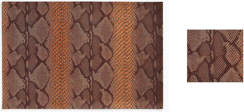 Σουβέρ Σετ 6τμχ Polyester ESPIEL 10×10εκ. HEN110 (Ύφασμα: Polyester, Χρώμα: Καφέ) – ESPIEL – HEN110