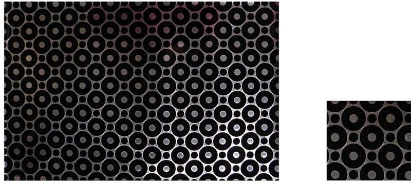 Σουβέρ Σετ 6τμχ Polyester ESPIEL 10×10εκ. HEN207 (Ύφασμα: Polyester, Χρώμα: Μαύρο) – ESPIEL – HEN207