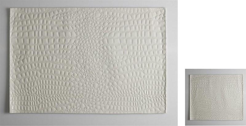 Σουβέρ Σετ 6τμχ Polyester ESPIEL 10×10εκ. HEN201 (Ύφασμα: Polyester, Χρώμα: Λευκό) – ESPIEL – HEN201