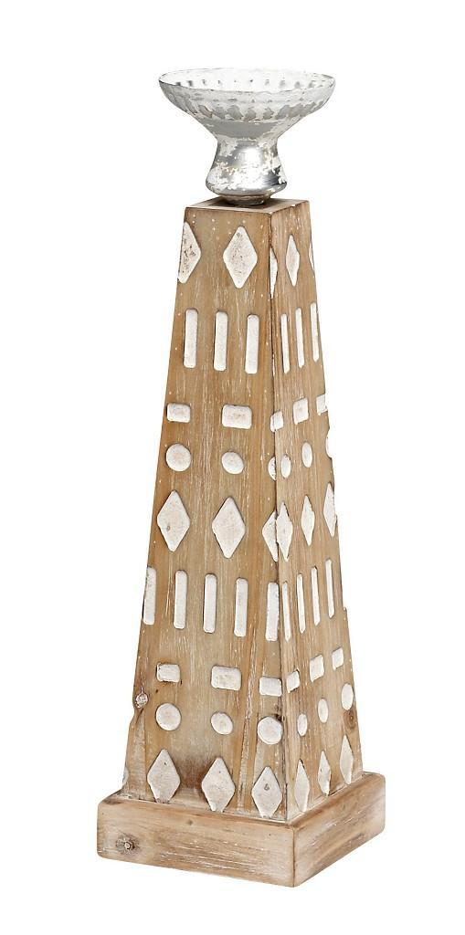 Κηροπήγιο Αντικέ Ξύλινο-Μεταλλικό ESPIEL 12×42εκ. VIN307 – ESPIEL – VIN307