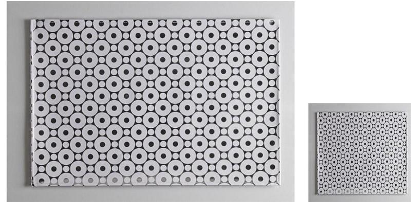 Σουβέρ Σετ 6τμχ Polyester ESPIEL 10×10εκ. HEN206 (Ύφασμα: Polyester, Χρώμα: Λευκό) – ESPIEL – HEN206