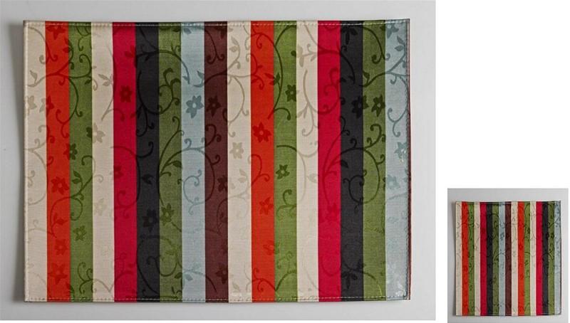 Σουβέρ Σετ 6τμχ Polyester ESPIEL 10×10εκ. HEN218 (Ύφασμα: Polyester) – ESPIEL – HEN218