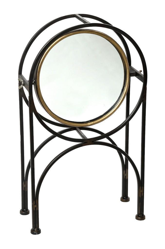 Καθρέπτης Επιτραπέζιος Μεταλλικός 10×25,5×43,5εκ. ESPIEL FUT308 (Υλικό: Μεταλλικό) – ESPIEL – FUT308