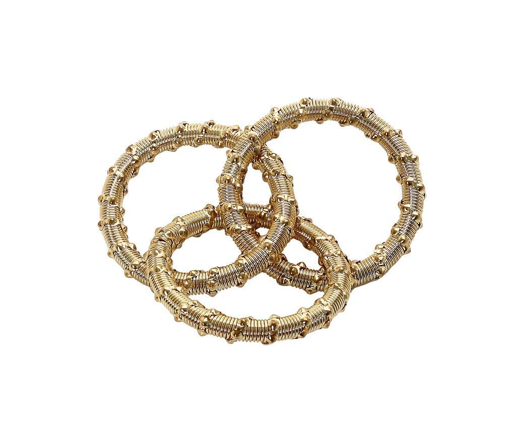 Δαχτυλίδι Πετσέτας Μεταλλικό Χρυσό ESPIEL 6×2εκ. YRA108K6 (Υλικό: Μεταλλικό, Χρώμα: Χρυσό ) – ESPIEL – YRA108K6