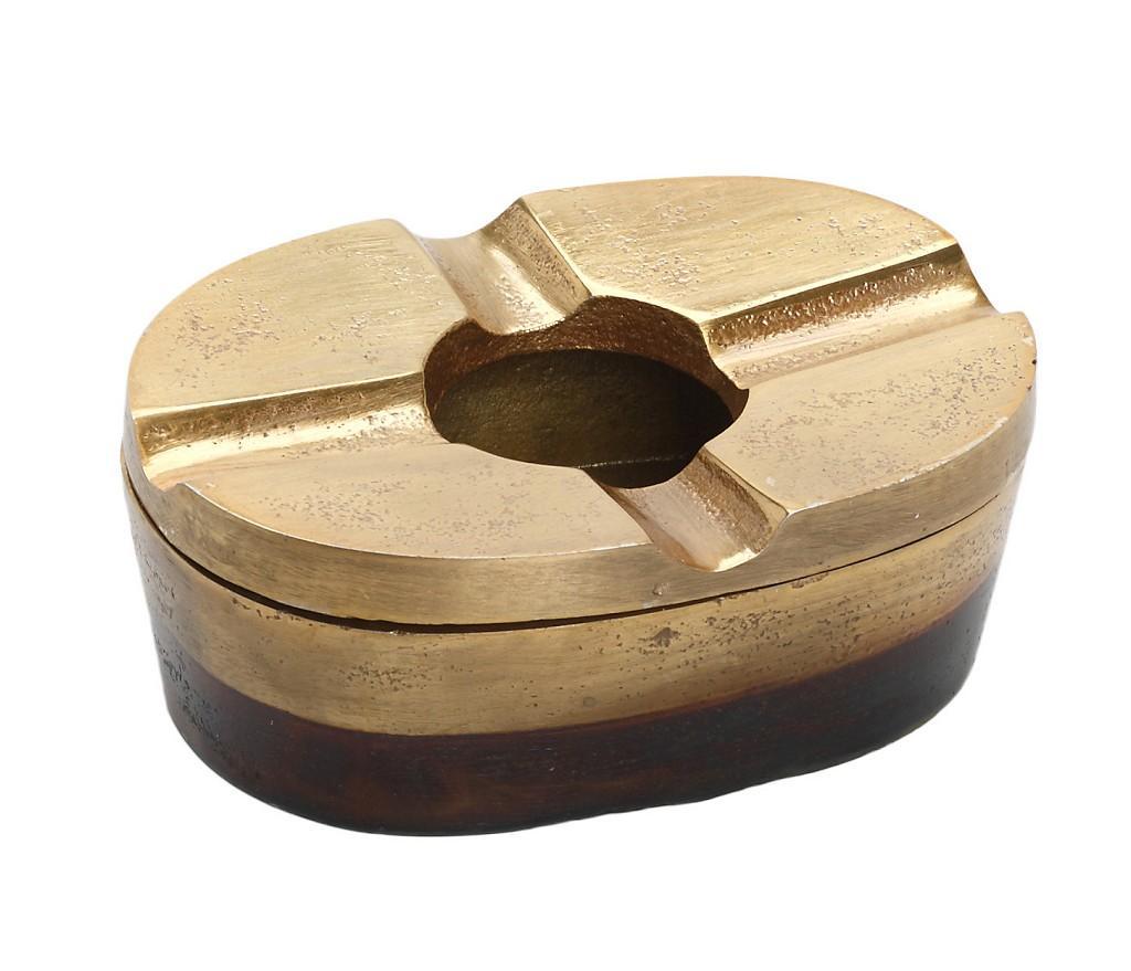 Σταχτοδοχείο Αλουμινίου Αντικέ ESPIEL 11x8x5εκ. FLA215 (Υλικό: Αλουμίνιο, Χρώμα: Χρυσό ) - ESPIEL - FLA215