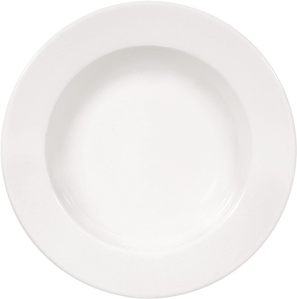 Πιάτο Βαθύ Πορσελάνης Meran Λευκό ESPIEL 23×3,6εκ. 001.160941K6 (Υλικό: Πορσελάνη, Χρώμα: Λευκό) – ESPIEL – 001.160941K6