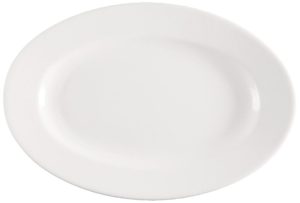 Πιατέλα Πορσελάνης Meran Λευκό ESPIEL 28x21x2εκ. 001.172056K2 (Υλικό: Πορσελάνη, Χρώμα: Λευκό) – ESPIEL – 001.172056K2
