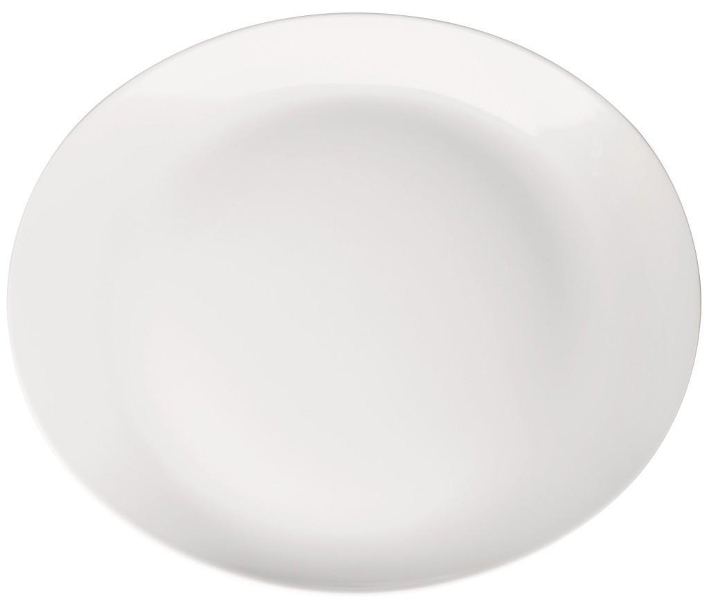 Πιάτο Μπριζόλας Πορσελάνης Meran Λευκό ESPIEL 34x28x4εκ. 001.725323K2 (Υλικό: Πορσελάνη, Χρώμα: Λευκό) – ESPIEL – 001.725323K2