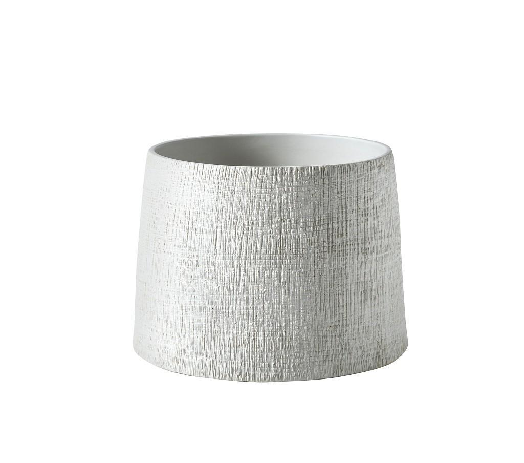 Διακοσμητικό Δοχείο Κεραμικό ESPIEL 22,5x16,2εκ. NFU208 (Υλικό: Κεραμικό, Χρώμα: Λευκό) - ESPIEL - NFU208