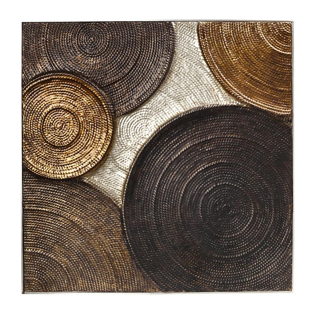 Πίνακας Μεταλλικός Κύκλοι ESPIEL 93x4x93εκ. ICY101 (Υλικό: Μεταλλικό, Χρώμα: Καφέ) – ESPIEL – ICY101